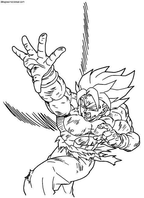 imagenes de goku volando dibujos de goku dragonball z para colorear
