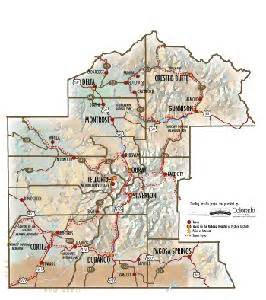map of southwest colorado southwest colorado travel region