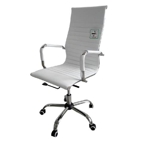 eames office chair ribbed high back white office chairs eames style high back ribbed executive