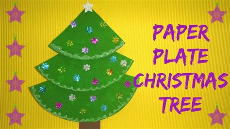 paper plate christmas art craft paper plate tree paper plate craft