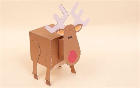 How To Make Paper Reindeer - platonic reindeer late stage prototype rob ives