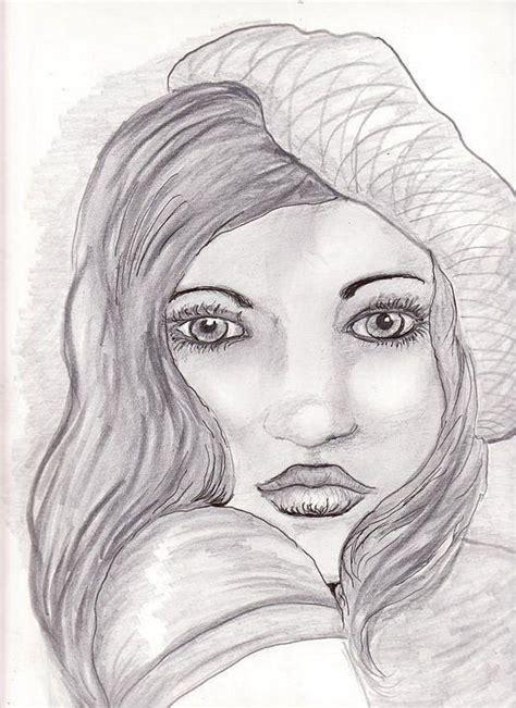 art dinca beautiful girl drawing by farfallina art gabriela dinca