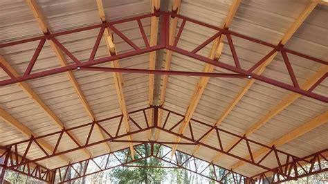 steel roof truss    hay barns horse stalls