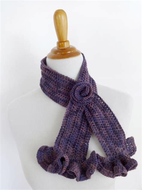 vintage blossom crochet scarf allfreecrochet