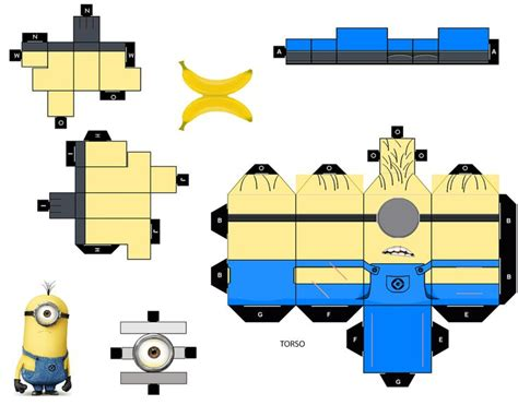Minion Papercraft - minion cubeecraft 3d paper boxes and minions