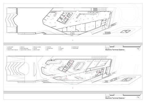 modern terminal floor plan salerno maritime terminal zaha hadid architects archdaily