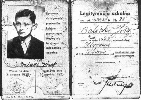 printable holocaust id cards the holocaust one boy s experience by dov weissberg