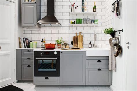 small kitchen inspiration: gray kitchen cabinet