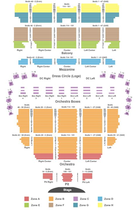 wang theatre boston seating map concert venues in boston ma concertfix