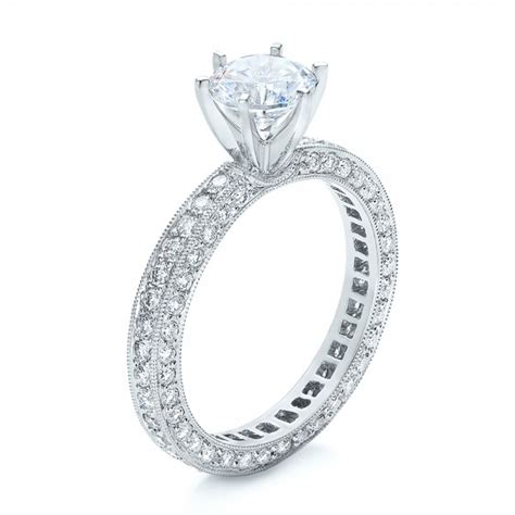 six prong set engagement ring vanna k 100681