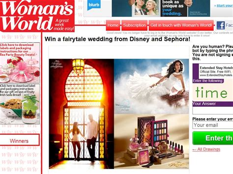 Sephora Sweepstakes Winners - win a fairytale wedding from disney and sephora sweepstakes