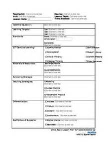 Fillable Lesson Plan Template by Lesson Plan Template Microsoft Word Version Microsoft