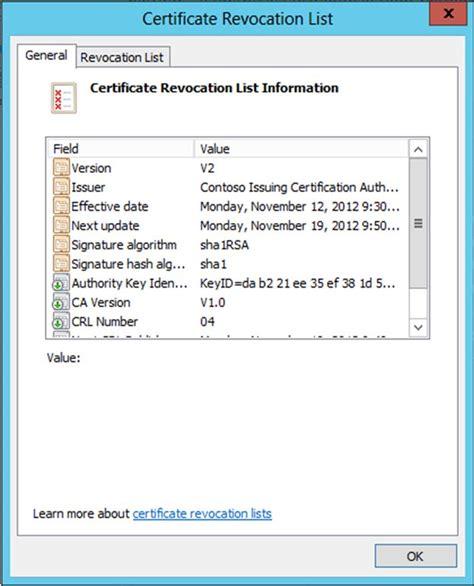 certificate revocation list certificates templates
