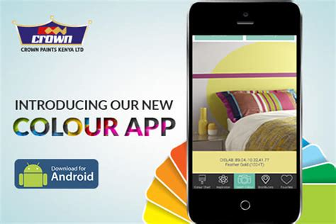 crown paints introduces mobile app to enable users choose the right paint colour crown paints