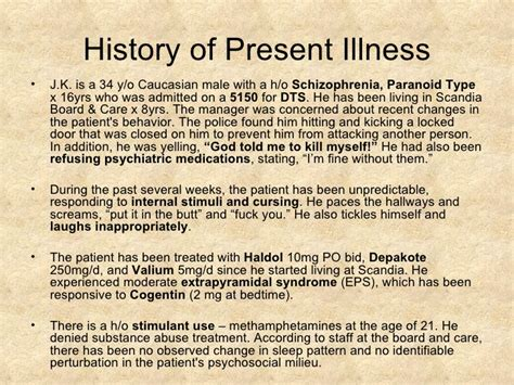 schizophrenia psychiatry case presentation