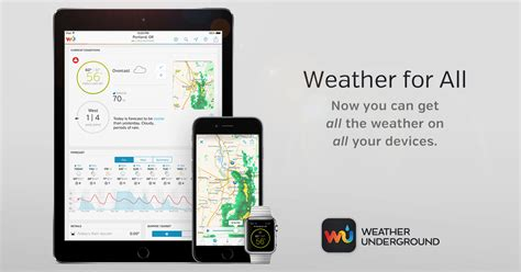 mobile wunderground weather underground launches universal weather app