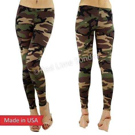 army pattern leggings women fitted slim army camouflage camo cotton print