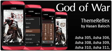 nokia asha 305 god themes god of war themes themereflex