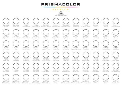 prismacolor color chart prismacolor 72 colour chart by codasaur on deviantart