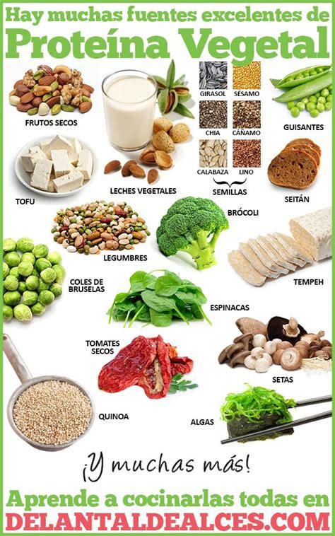 alimentos vegetales  mas proteinas infografias veganismo alimentos saludables alimentos