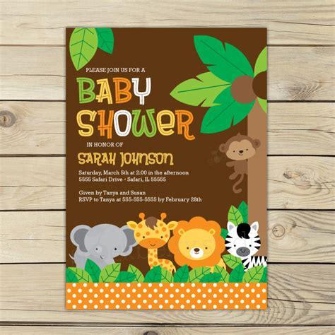 Jungle Safari Baby Shower by Jungle Safari Baby Shower Invitation Printable Safari Baby