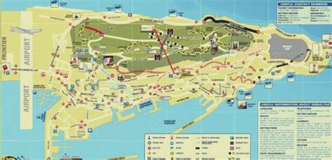 printable road map of gibraltar map of gibraltar