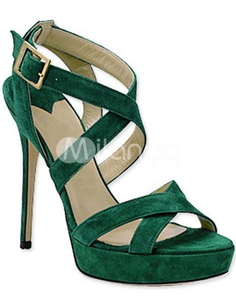 green high heel sandals green high heel shoes