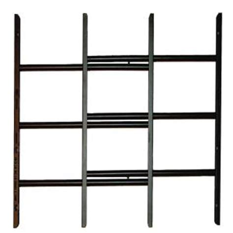 grisham awg 3 bar window guard in black 93911 the home depot