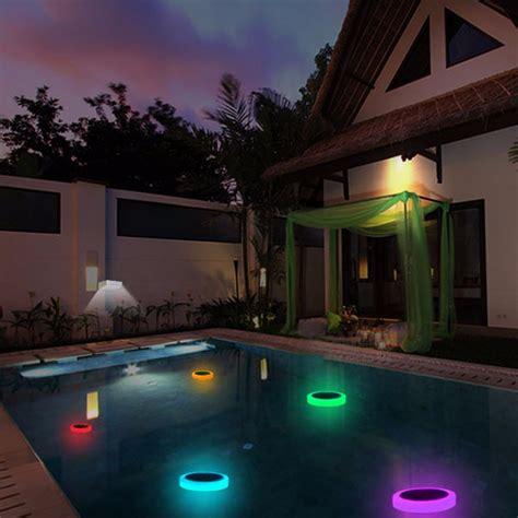 solar power rgb underwater led garden pond swimming pool