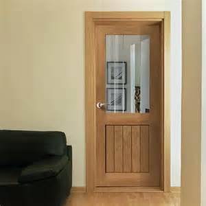 jbk river oak thames mk2 half light door with etched lines