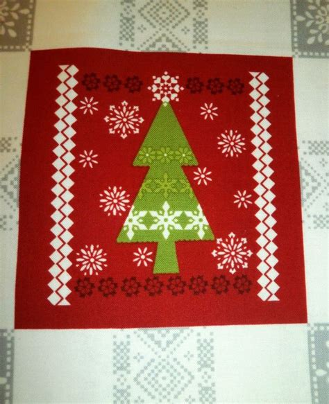 cotton quilt fabric panel o christmas tree holiday blocks