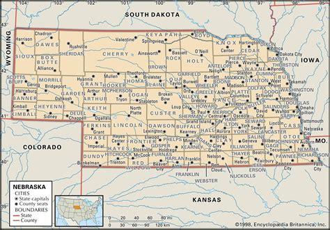 printable nebraska road map state and county maps of nebraska