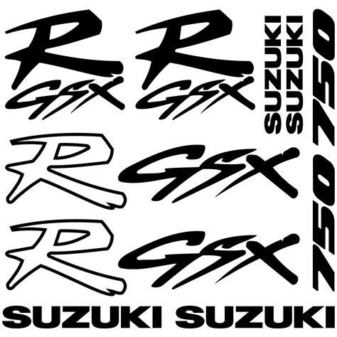 Suzuki Gsx R 750 Aufkleber Set wandtattoos folies suzuki r gsx 750 aufkleber set