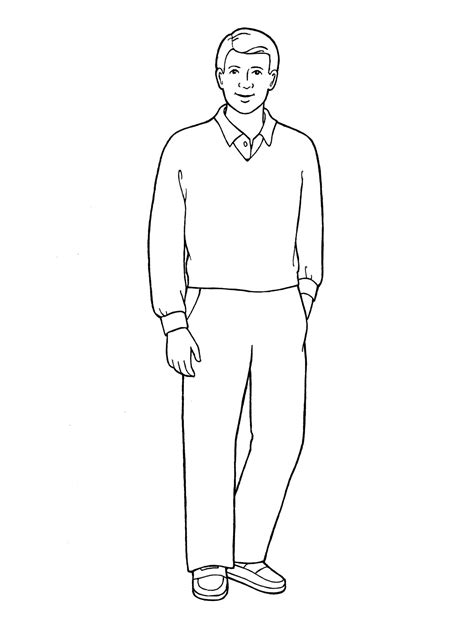 Drawing Of A Standing Up by Standing