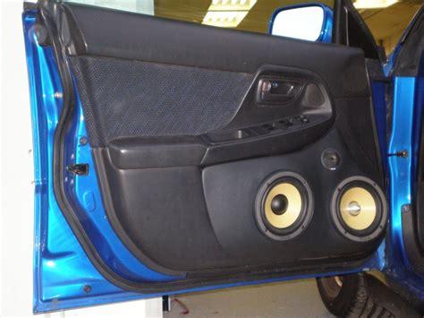 custom door pods   focal wy speaker system   subaru wrx wagon car audio pinterest
