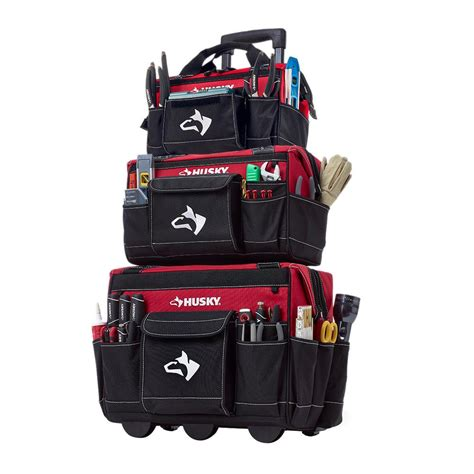 husky 18 in rolling tool tote with 16 in and 14 in