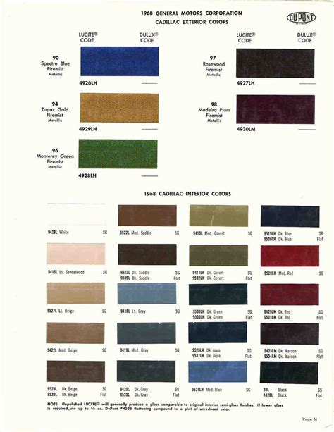 1970 cadillac colors official cadillac color names and paint codes page 4
