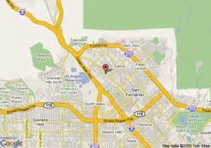 sylmar california map map of econo lodge sylmar sylmar