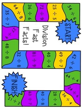 printable math board games for 6th grade multiplication and division board games fun math