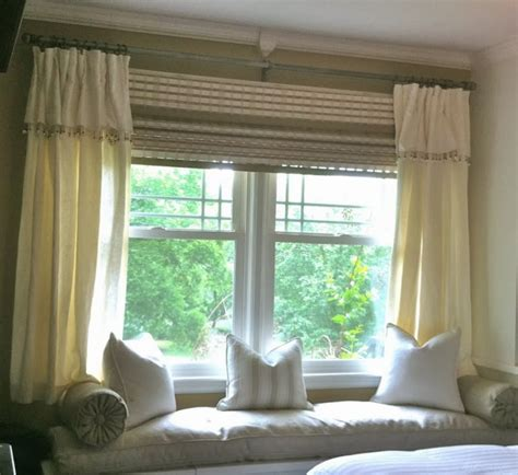 curtains on a bay window foundation dezin decor bay window curtain treatments