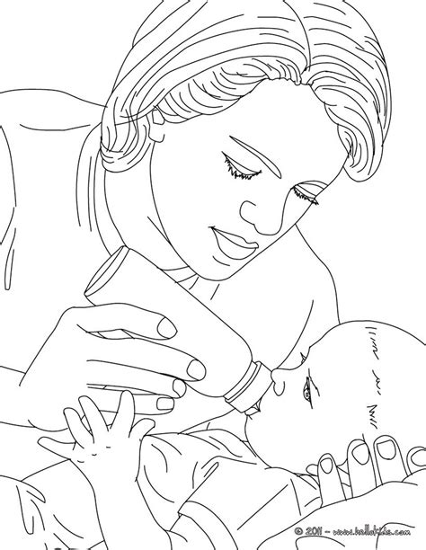 baby nurse coloring pages pediatric nurse bottle feeding a new born baby coloring