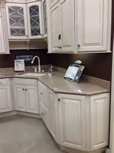 white kitchen beige countertop plaza maple cabinet with kona beige silestone countertop