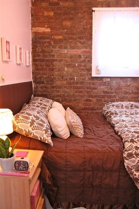 tiny apartment   york  exposed brick walls