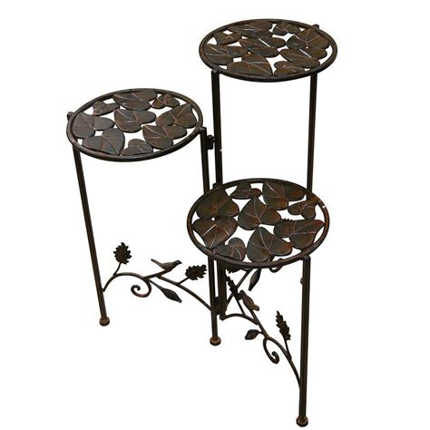 planter with stand alpine 15 in x 23 in 3 tier metal planter stand bvk110 the home depot