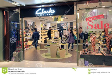 clarks shop in hong kong editorial image image 36000020