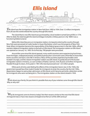 Free History Worksheets For Middle School by Ellis Island Worksheet Education