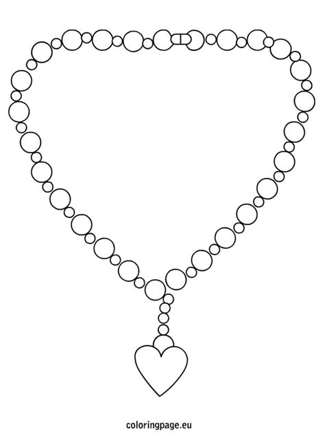 printable coloring pages jewelry free coloring pages of necklace