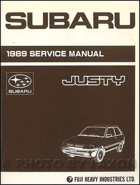 service manual online service manuals 1988 subaru xt transmission control service manual 1989 subaru justy repair shop manual original