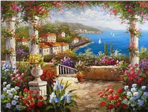 Paint By Numbers Wall Murals mediterranean oil painting mediterranean italian villas