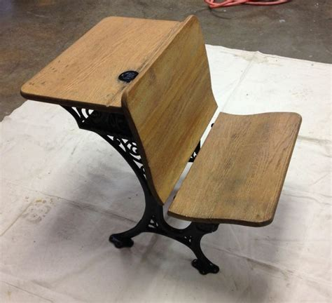antique wabash school desk with original inkwell and